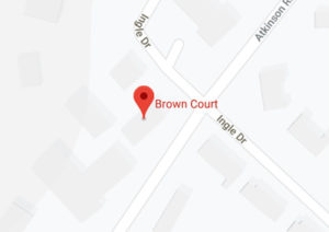 Map image of the meeting location at Brown Court